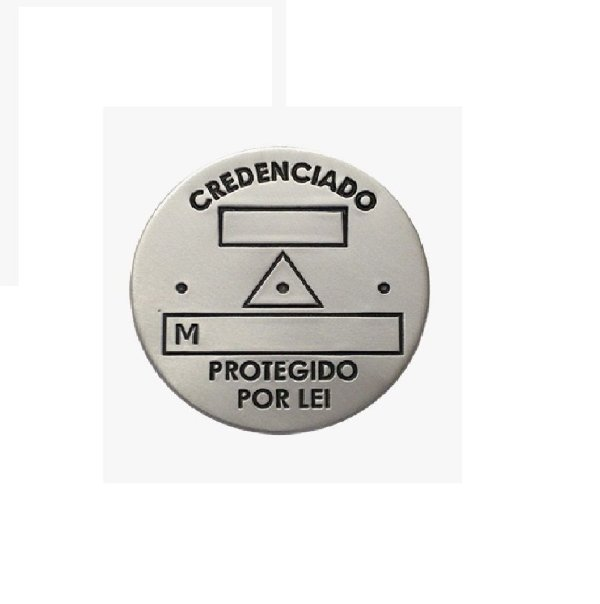 Plaqueta Geodésica Slim s/ furos