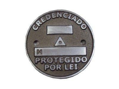Plaqueta de Alumínio Geodésico (furada)