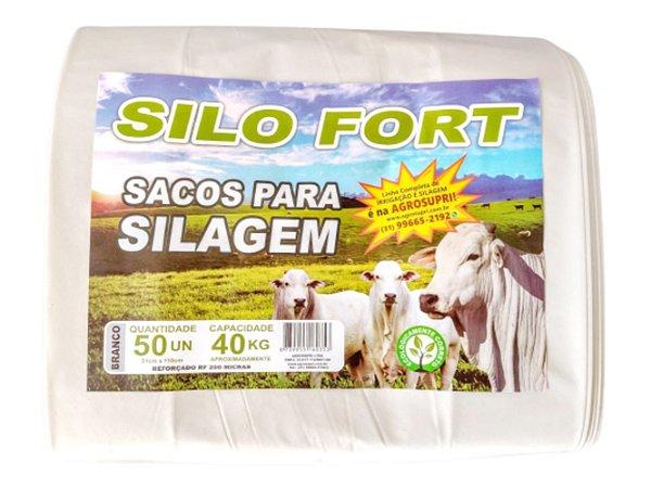 Sacos De Silagem Branco 51x110 - 200 Micras C/100 Unid