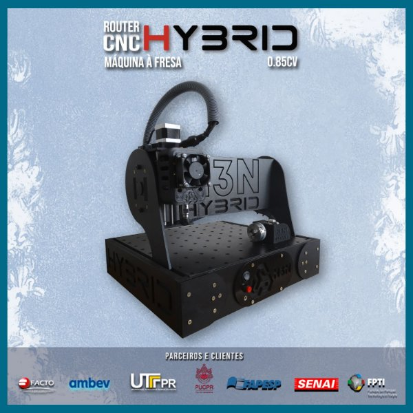 CNC H3N Hybrid Ourives Spindle 0.85cv 30x30x7cm - Com Gravação Interna promoção