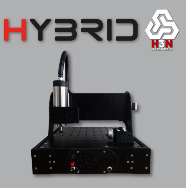 CNC H3N P/ Ourives - 30x30x5 C/ Spindle de 1 CV (24 Mil RPM) C/ Eixo Rotativo