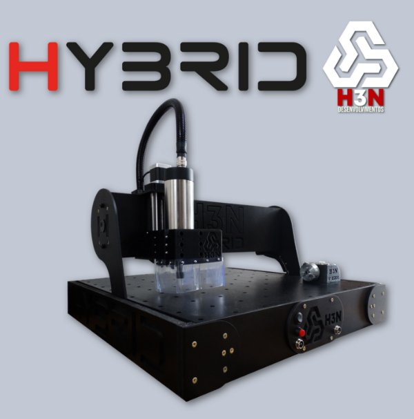 CNC H3N P/ Ourives - 50x50x5 C/ Spindle de 1 Cv (24 Mil RPM) C/ Eixo Rotativo