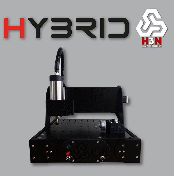 CNC H3N P/ Ourives - 30x30x5 C/ Spindle de 1 Cv (24 Mil RPM) C/ Eixo Rotativo + Gravação Interna