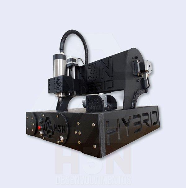CNC H3N Hybrid Ourives Spindle 1cv 30x30x7cm - Com Gravação Interna