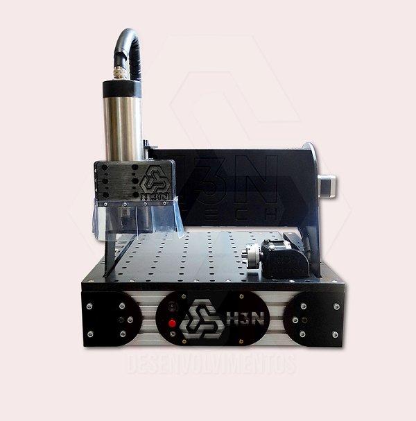 CNC H3N Ntech Ourives Spindle 2cv 30x30x7cm - Com Gravação Interna + Kit Fresas