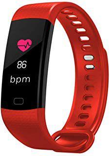Relógio Inteligente Pulseira Smartband F1 Plus Y5 Monitorart Vermelha