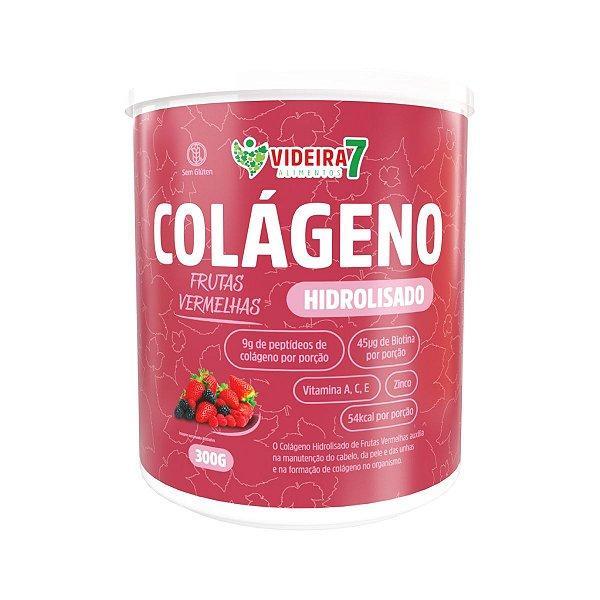 Colágeno Hidrolisado c/ VIT E MIN + BIOTINA Frutas Vermelhas 300g - Videira 7