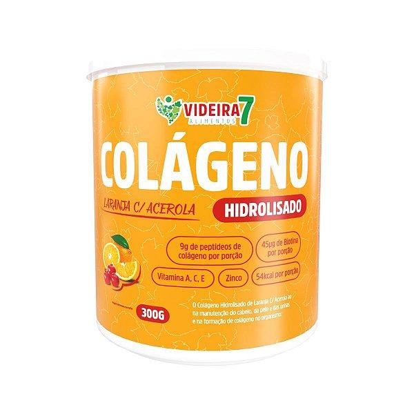 Colágeno Hidrolisado c/ VIT E MIN + BIOTINA Laranja c/ acerola 300g - Videira 7