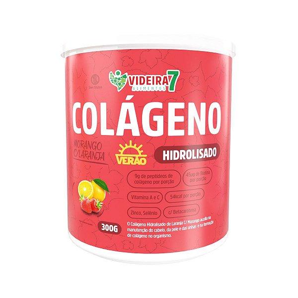 Colágeno Hidrolisado c/ Betacoteno Verão Morango com laranja 300g - Videira 7