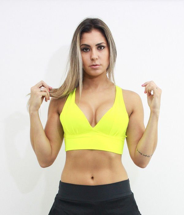 Top Push Up Yellow Neon