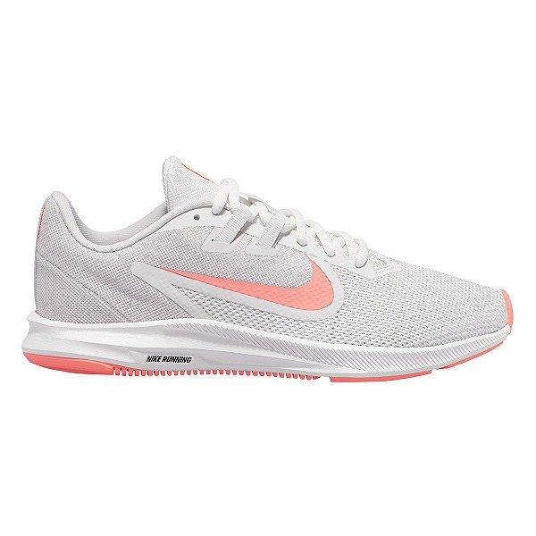 Tênis Nike Downshifter 9 - Branco e Rosa