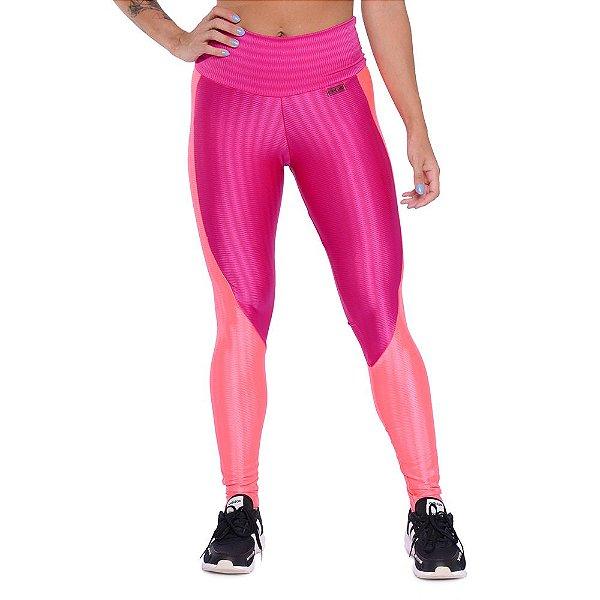 Legging Super Girl Pink Orange