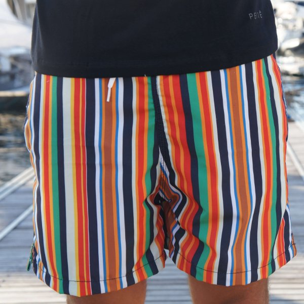 SHORT COLORFUL STRIPED