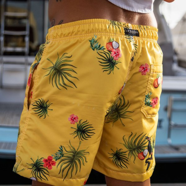 SHORT YELLOW FLORAL