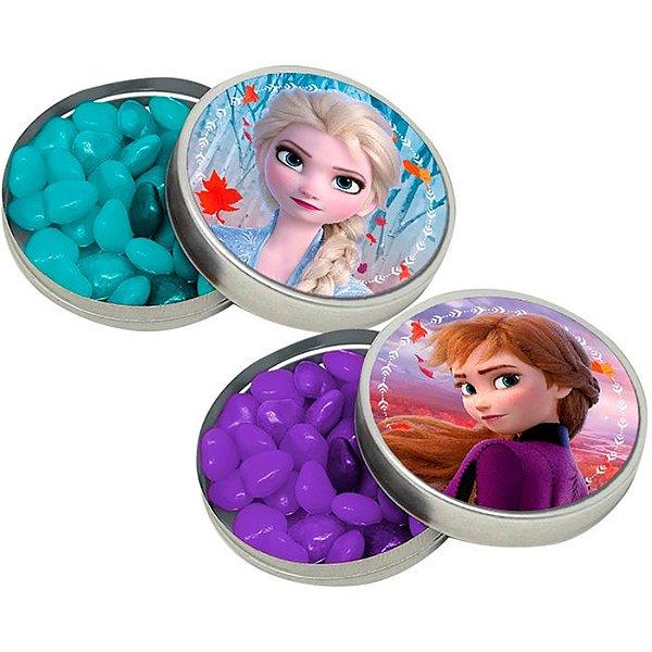 Adesivo Redondo Para Latinha De Festa Frozen 30 Unidades