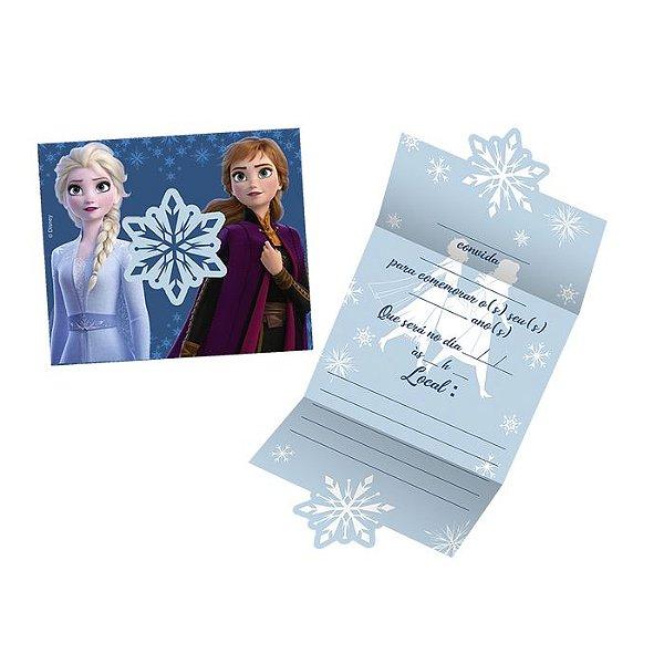 Convite Festa De Aniversário Frozen 08 Unidades
