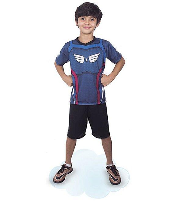 Fantasia Capitão América Pop infantil Camiseta E Short