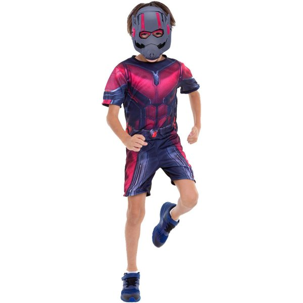 Fantasia Infantil Homem Formiga Curto Com Máscara