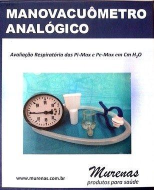 Manovacuômetro Analógico - Reabilitação Pulmonar - 60/120/150/300 CmH2O - ANVISA