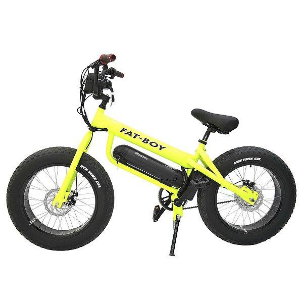 Bicicleta Elétrica Fat Bike 350w - Amarelo