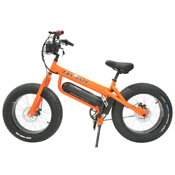 Bicicleta Elétrica Fat Bike 350w - Laranja