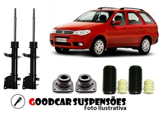 AMORTECEDORES DIANT. + KIT COMPLETO - FIAT PALIO WEEKEND - 2001 A 2015