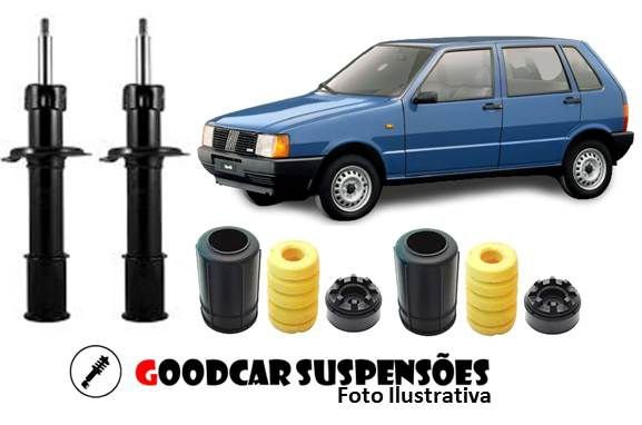 AMORTECEDORES DIANT. + KIT COMPLETO - FIAT UNO | MILLE| WAY | ECONOMY  - 1988 A 2014