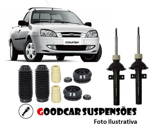 AMORTECEDORES DIANT. + KIT COMPLETO - FORD COURIER - 1997 A 2013