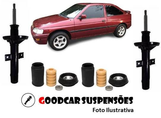 AMORTECEDORES DIANT. + KIT COMPLETO - FORD ESCORT - 1983 A 1996