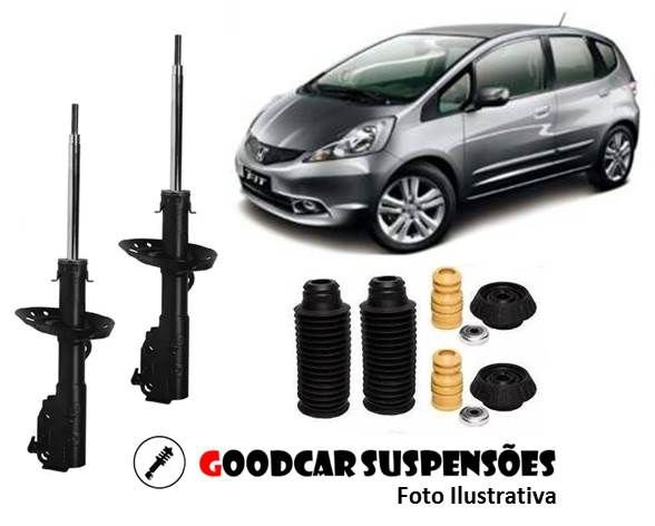 AMORTECEDORES DIANT. + KIT COMPLETO - HONDA NEW FIT - 2009 A 2014