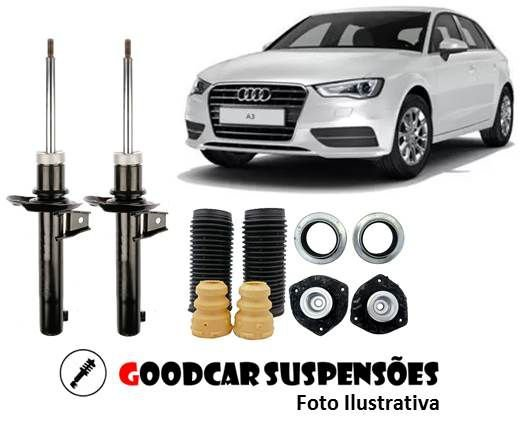 AMORTECEDORES DIANT. + KIT COMPLETO -  AUDI A3 - 2006 A 2012 (haste grossa)