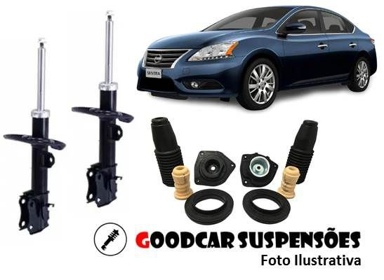 AMORTECEDORES DIANT. + KIT COMPLETO - NISSAN SENTRA - 2014 A 2018