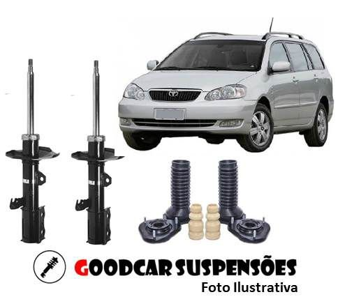 AMORTECEDORES DIANT. + KIT COMPLETO - TOYOTA COROLLA FIELDER - 2002 A 2008