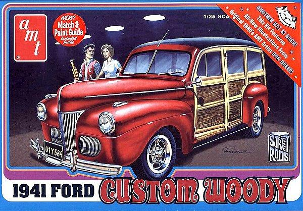 Ford Custom Wood 1941 1/25 AMT