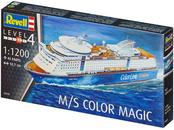 Cruzeiro M/S Color Magic 1/1200 Revell