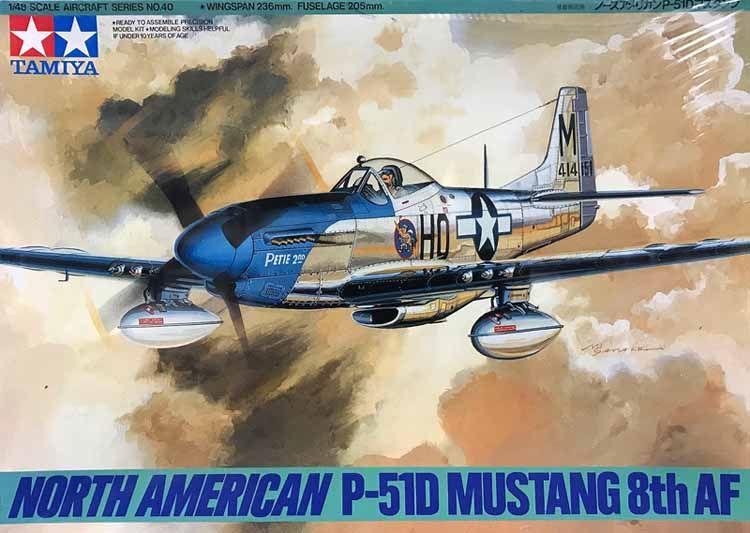 North American P-51D Mustang 8th AF 1/48 Tamiya