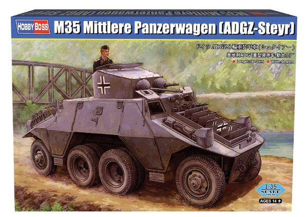 Blindado M35 Panzerwagen  Steyr ADGZ Hobby Boss 1/35