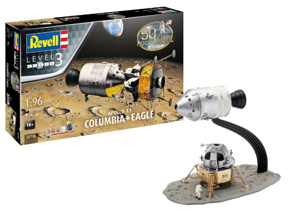 Módulo Lunar Columbia e Eagle Apollo 11 1/96 Revell