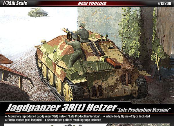 JAGDPANZER 38(t) HETZER LATE VERSION 1/35 Academy