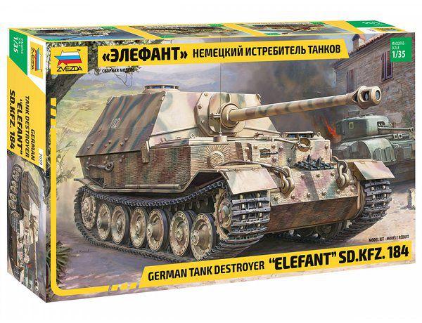 Caça Tanque Alemão Elefant SD.KFZ.184 1/35 Zvezda