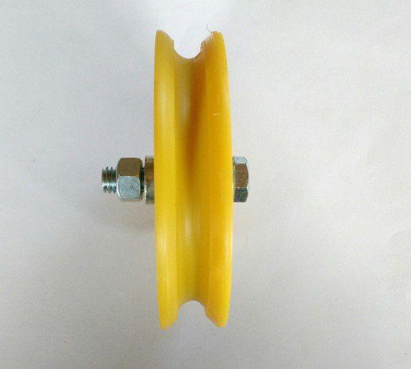 Roldana Com Rolamento Canal U Nylon - 4 polegadas (100 mm)