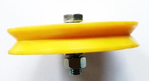 Roldana Com Rolamento Canal V Nylon - 3 polegadas (76 mm)