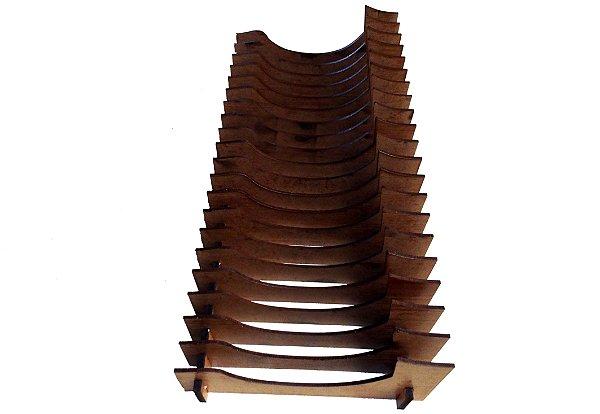 Organizador de Pires/Prato de sobremesa Vertical (20 Pratos)