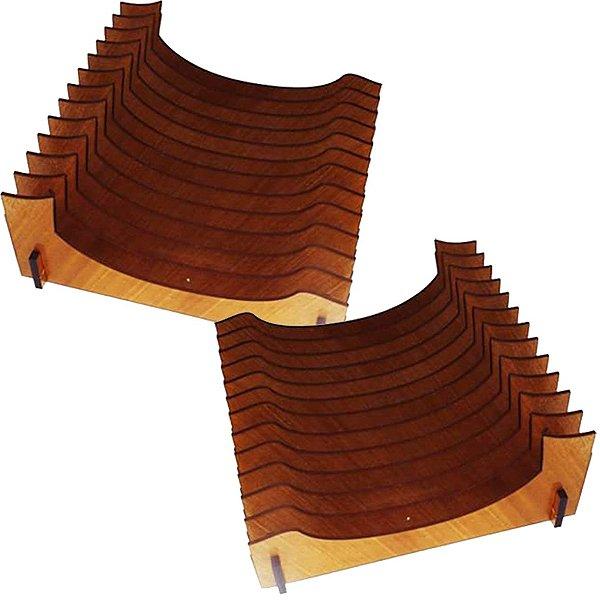 KIT 2 Organizador de Pratos Vertical (12 pratos)