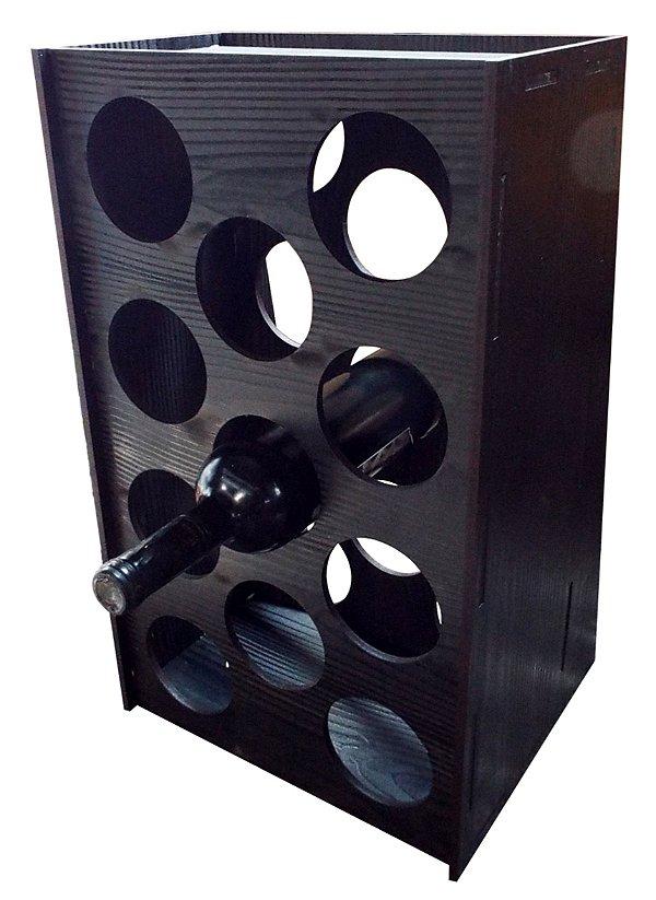 Adega de chão para 11 garrafas preto Mudde