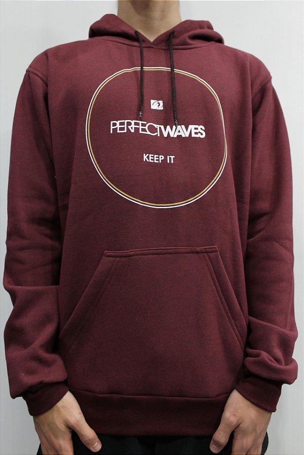 Moletom Perfect Waves Keep it Canguru Fechado