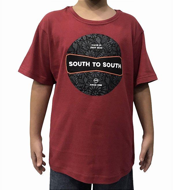 Camiseta Juvenil South To South Cherry