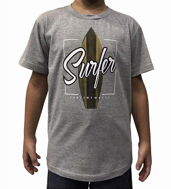 Camiseta Juvenil Perfect Waves Surfer