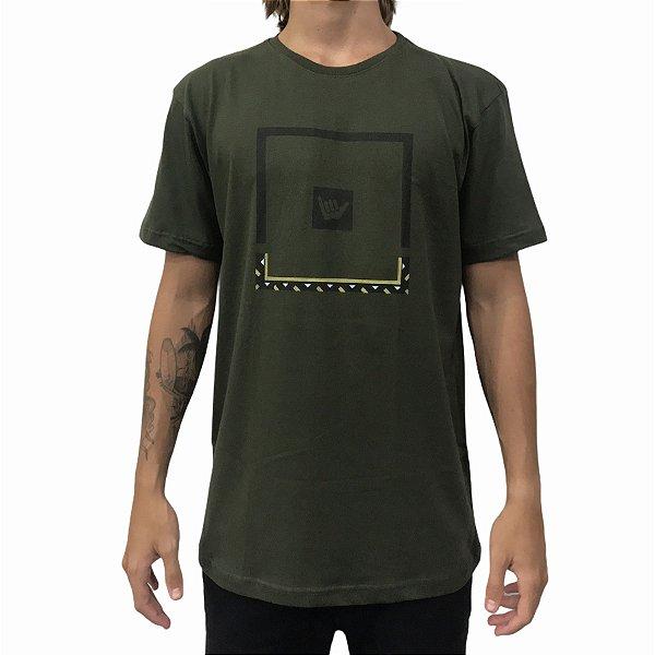 Camiseta Hang Loose Logafricor Verde