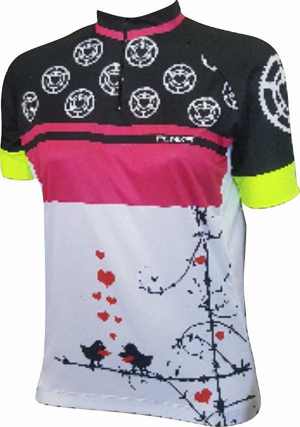 Camisa Ciclismo Penks Coração manga curta
